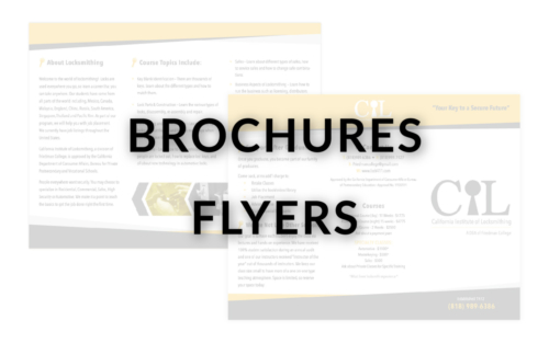 BROCHURES & FLYERS - NEW