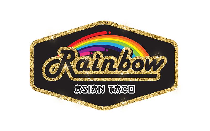 Rainbow Asian Taco Logo