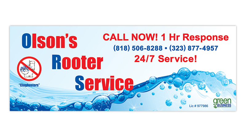 Olson's Rooter | Banner