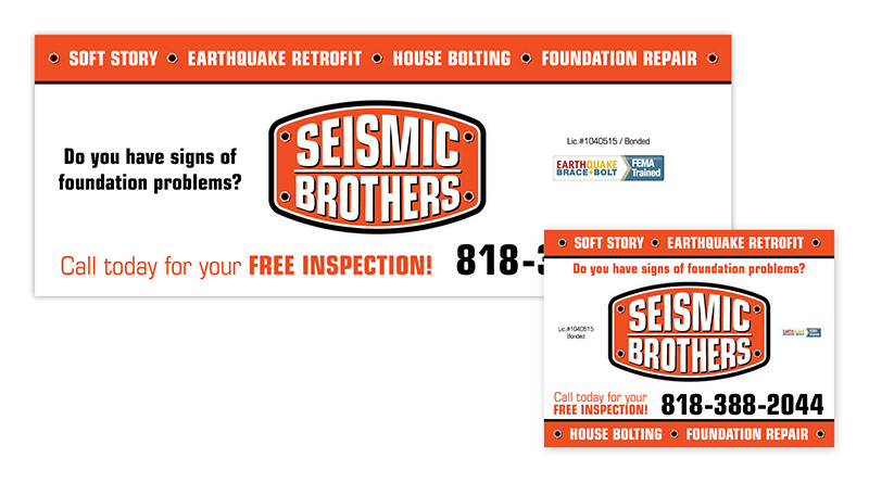 Seismic Brothers | Banner & Yard Sign