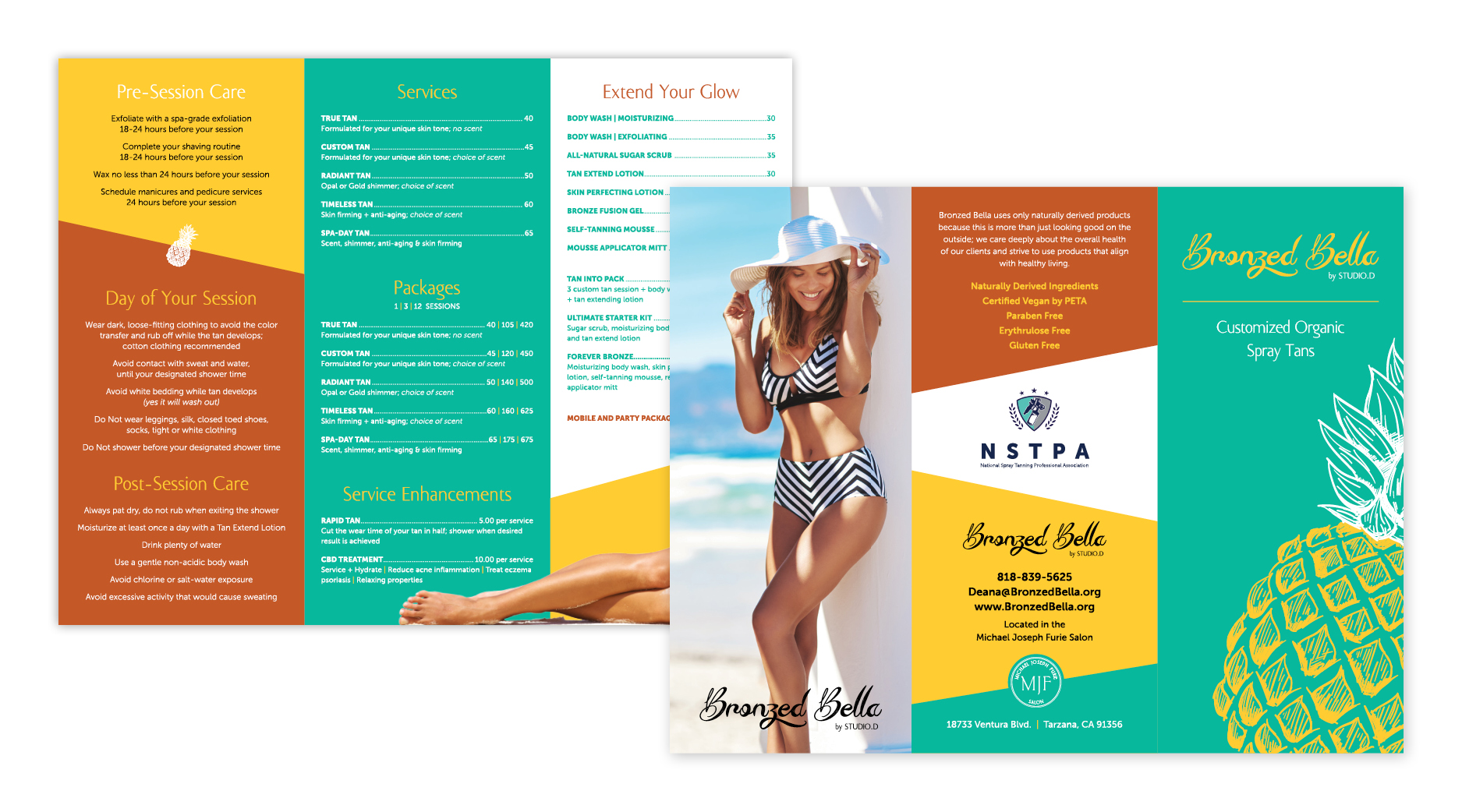 Bronzed Bella | Services Brochure