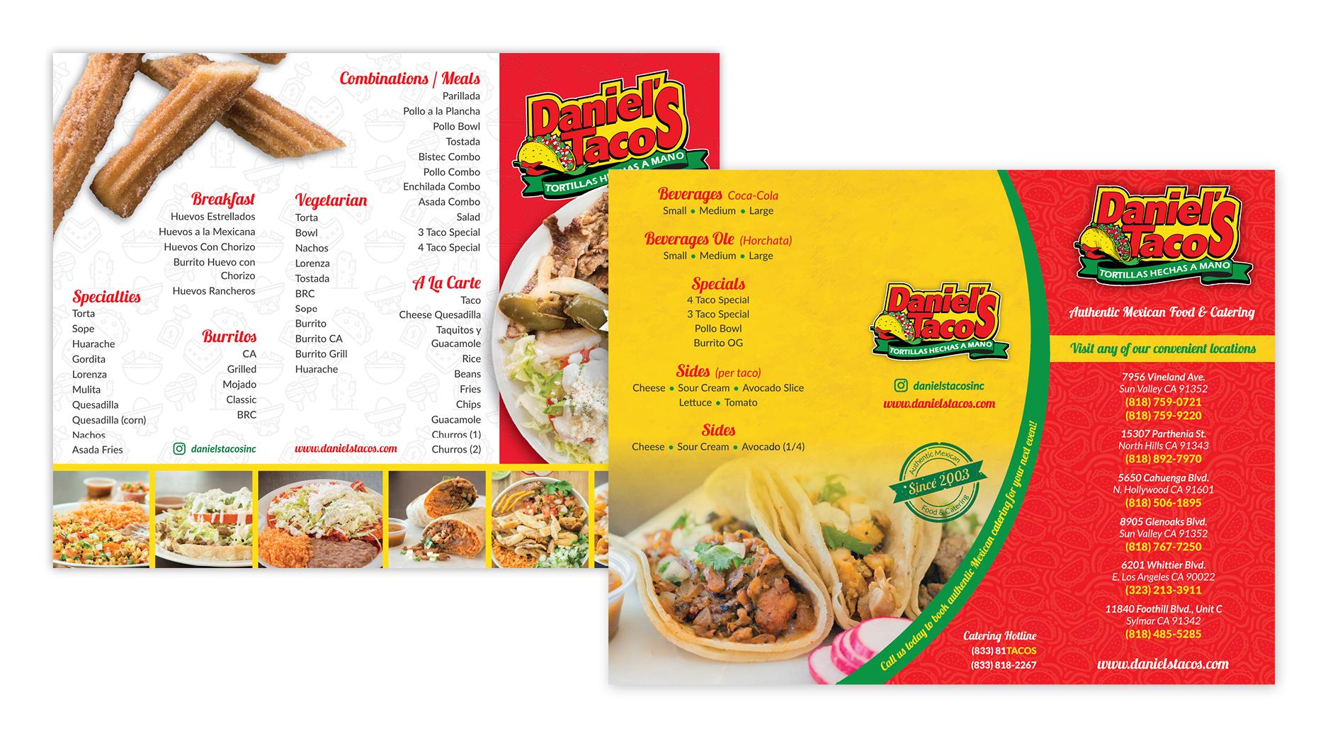 Daniel's Tacos | Menu