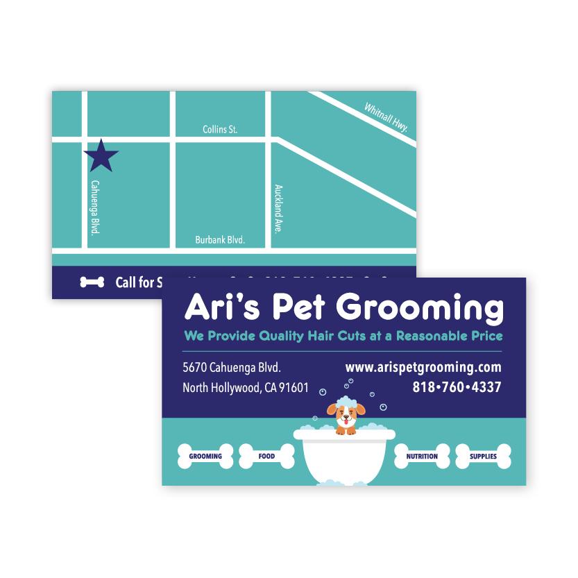 Ari's Pet Grooming | Business Card