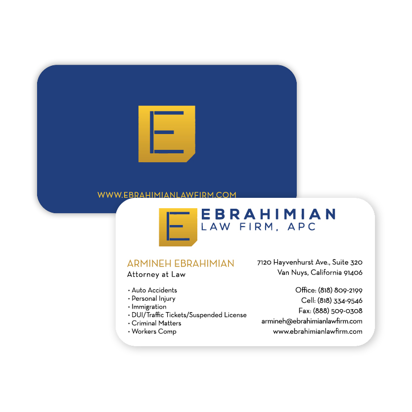 Ebrahimian Law Firm | Business Card