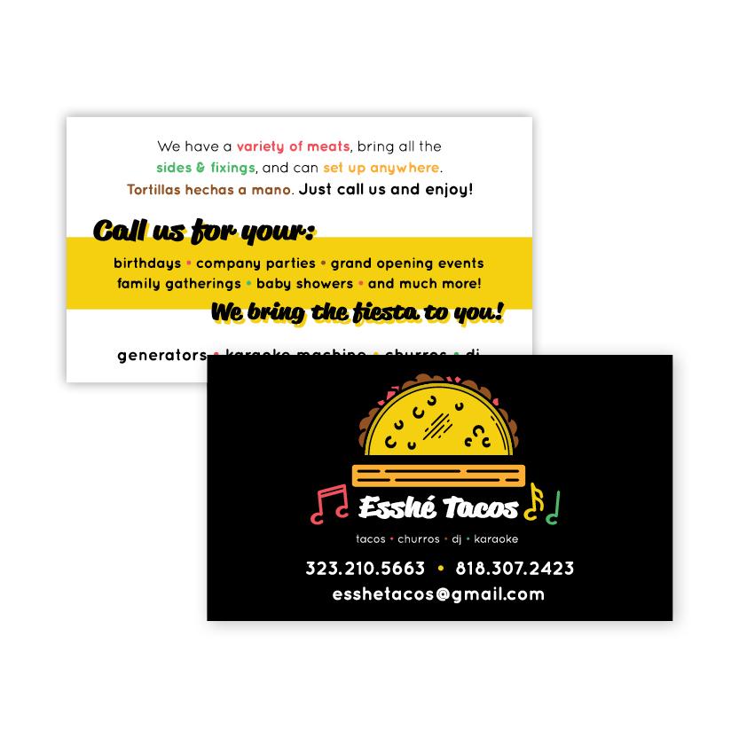 Esshe Tacos | Business Card