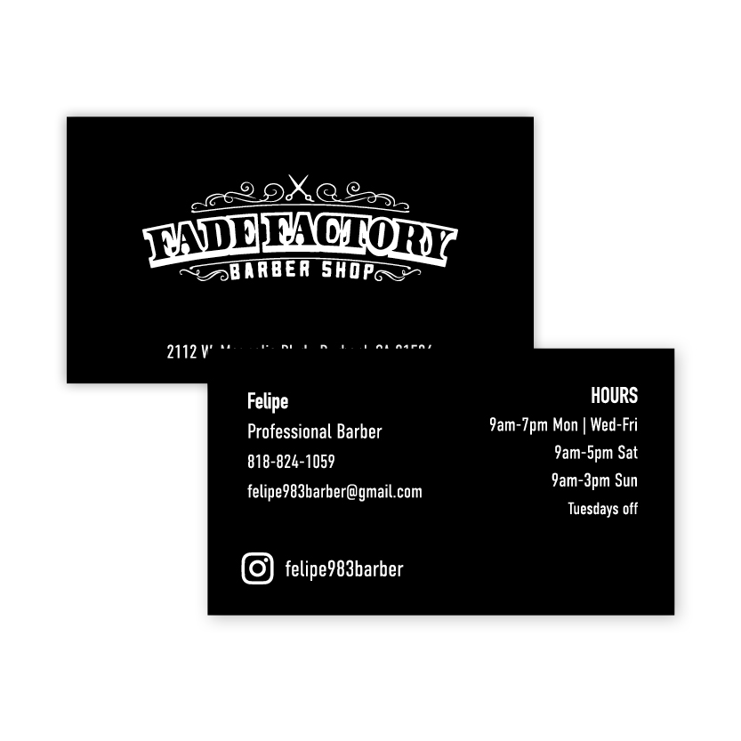 Fade Factory | Business Card