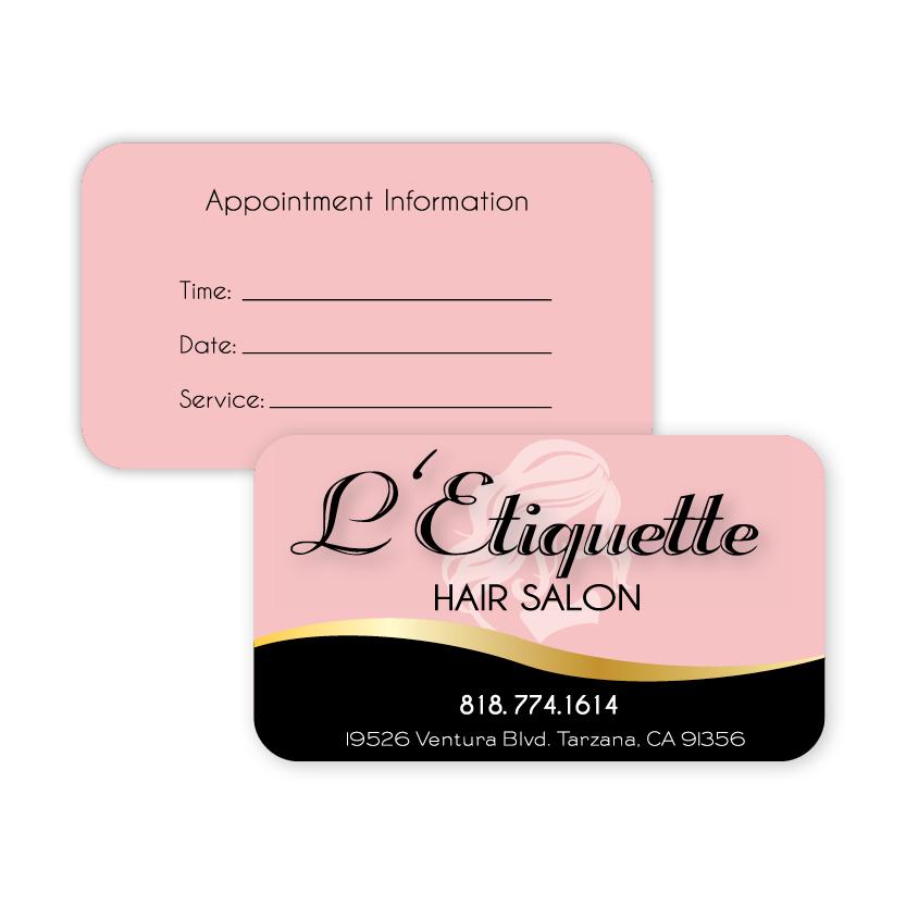 L'Etiquette Hair Salon | Business Card