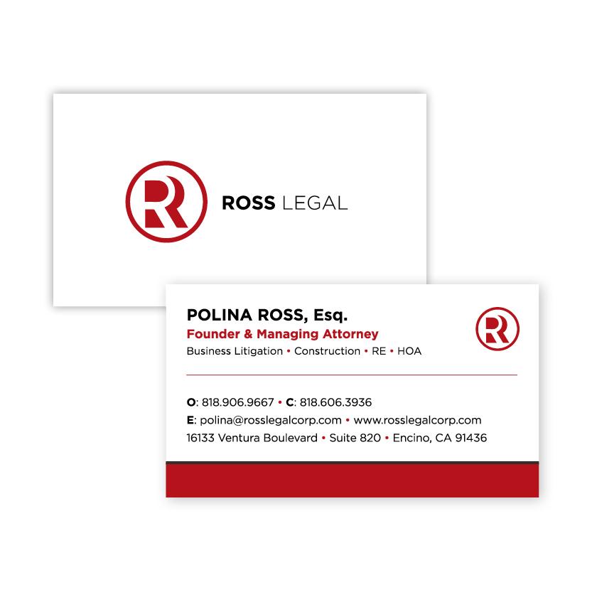 Ross Legal | Business Card
