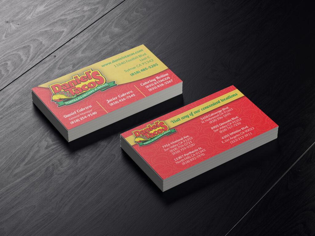 Daniel's Tacos | Business Card