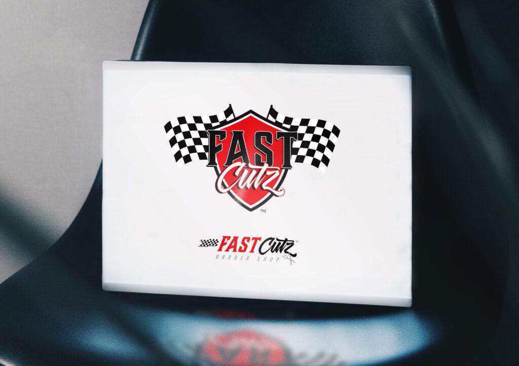 Fast Cutz Logo Mockup