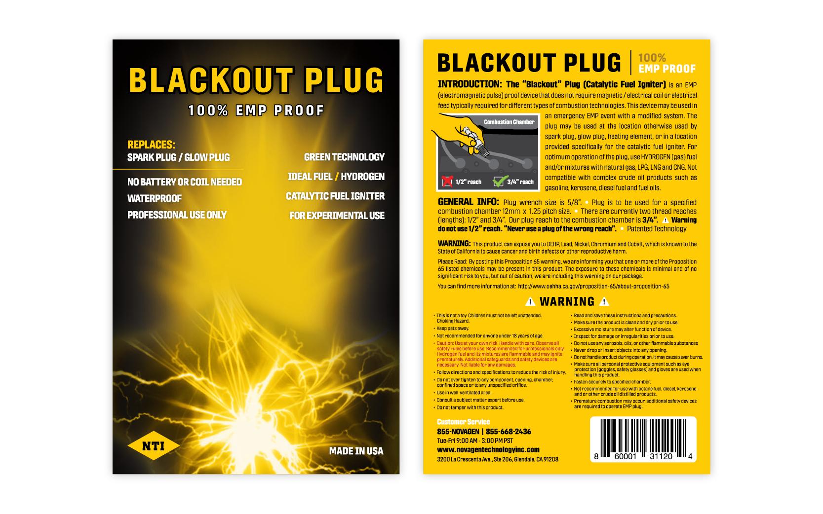 NTI | Blackout Plug Packaging