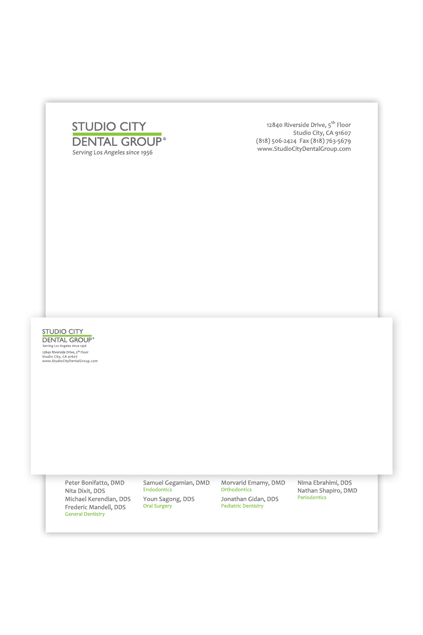 Studio City Dental Group | Stationery