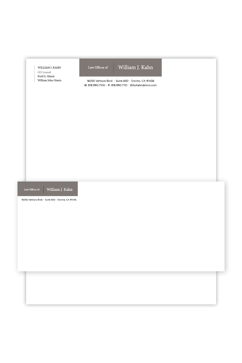 Law Offices of William Kahn | Stationery