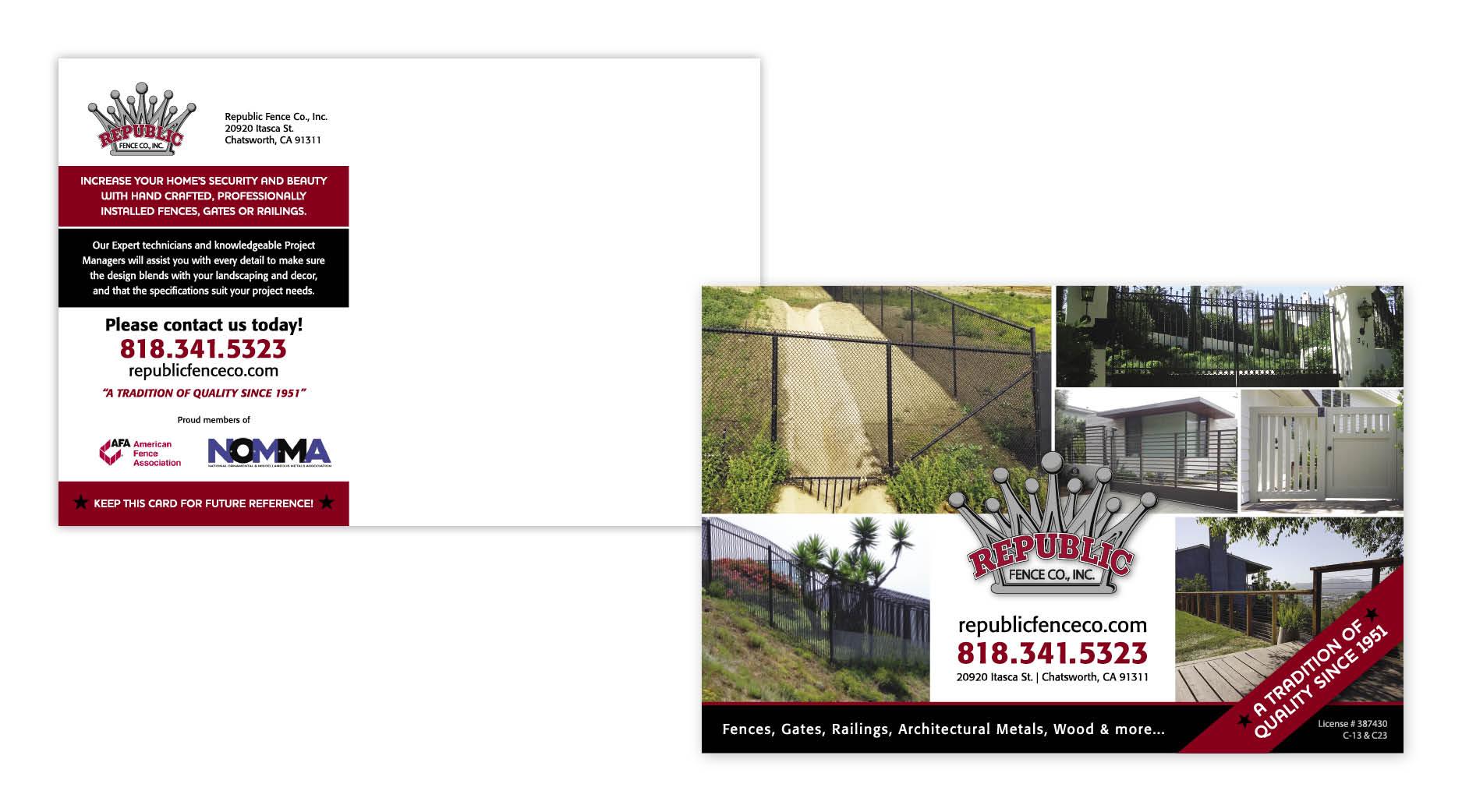 Republic Fence Postcard