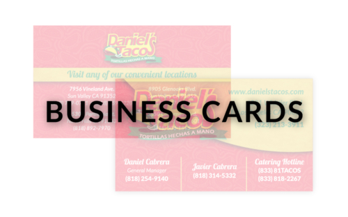 BUSINESS CARDS - NEW